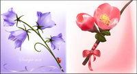 Belle fleurs vecteur mat��riel