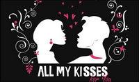 Donnez-vous toutes mes baisers Vector