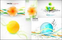 forme de la ligne dynamique de fleurs mat��riel Vector