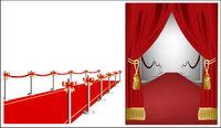 Tapis rouge rideau source vecteur mat��riel