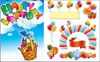 Vector Feliz cumpleaños fuente del material 2