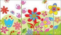 Lovely fleurs color��es Vector