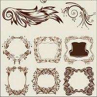 Elegant klassischen dekorativen Muster Vektoren