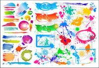 Colorful vecteur mat��riel de peinture