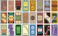 60 cartes de style r��tro vecteur mat��riel