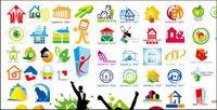 House Thema Logo Vektorgrafik Material