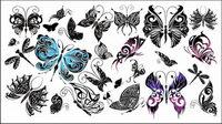 Hermosa mariposa t¨®tem Vector