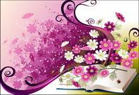 Vecteur de tendance florale -3