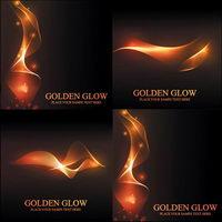 Blazing goldenes Licht Vector