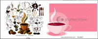 Vector Kaffee-Symbol und Hintergrundmaterial