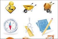 La construcci¨®n de vectores sitio tema de iconos