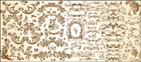 Sehr n��tzlich Reihe europäischer Muster Vektor Material