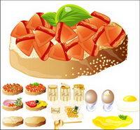 Rich und leckeres Essen) (Vektor-Material