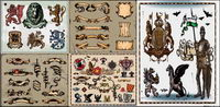 Alte Wappen Vektor Material