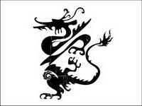 Vektor der klassischen chinesischen Drachen
