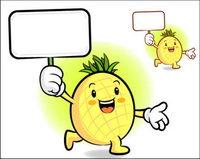 El amor la caricatura super fruta Vector 4