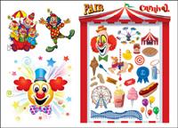 Le vecteur clown de carnaval et de mat��riel