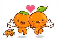 Die Liebe der Karikatur Superfrucht Vektor 9
