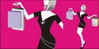 Shopping mode femmes vecteur