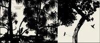 Vector silhouette des arbres