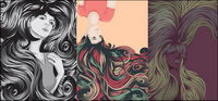 Cool weibliche Haar komplexen Vektor Material