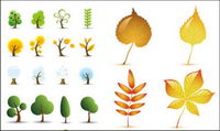 Les feuilles des arbres Vector