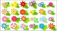 Flores de colores vector de material
