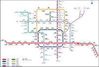 Beijing Subway Ligne 09 diagramme vectoriel version