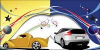 Vector Linien und Bewegung von Fahrzeugen