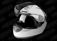 r��alistes Vecteur casque de moto