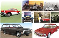 Neuf types de format de voitures Vecteur cdr