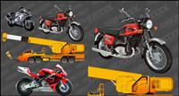 Motocicletas y Vector de gr¨²as
