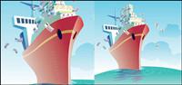 Commercial navire illustration vectorielle sur le th��me du mat��riel