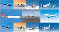 7 Zivilflugzeug Vektor Material