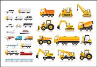 Variedad de material de vectores de transporte