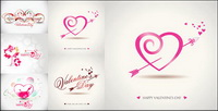 Romantische Valentinstag Vector Graphics