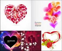 Romantische herzförmigen Vector Graphics