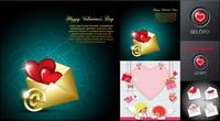 Valentinstag romantische Elemente - Vector
