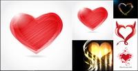 Romantique graphique en forme de coeur