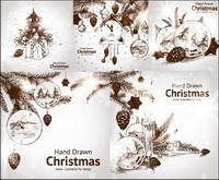 Peinte �� la main d��corations de Noël Vector style
