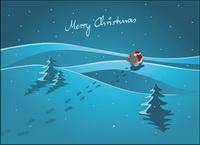 Santa huellas Vector