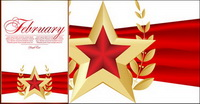 Red five-pointed star Bookmarks 04