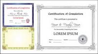 Certificado europeo de vectores plantilla