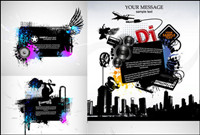 trend musical theme of the silhouette Vector