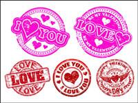 Vecteur badge LOVE
