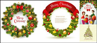 Beautiful Christmas wreath - Vector