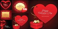 El amor rom��ntico tarjetas de San Valent��n vector material