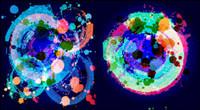 Der Trend der brillanten Farben Tinte - Vector