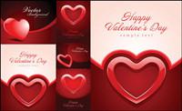 Valentinstag in Herzform Textur der Hintergrund Vektor Material