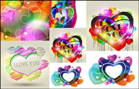 Combination of fashion heart-shaped vector material  -2